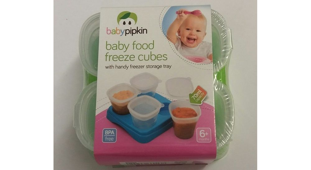 pk 4 baby rood weaning cubes (green)
