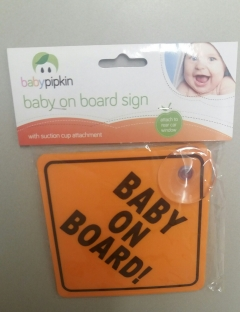 pk2 orange baby on board signs